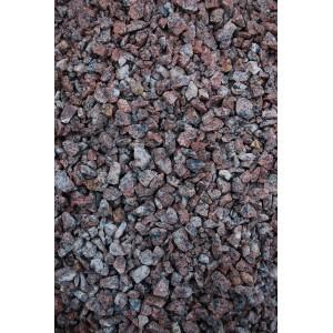 Raudona taškuota granito skalda 5/8 ; 8/12; 11/16 mm, 1000kg