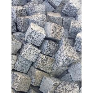 Trinkelės granito zebra 5x5x5 cm, kg (Bigbag >1t  190€/t.)