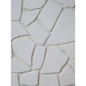 Antika balti akmenys ~2cm storio, kg (Pagal užsakymą)