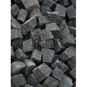Trinkelės granito juodos ~10x10x5 cm, kg