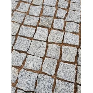 Trinkelės granito pilkos ~10x10x5 cm, kg