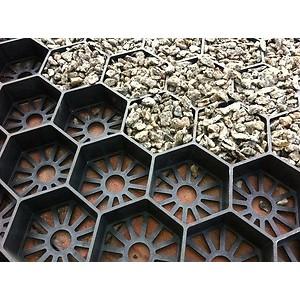 Korys skaldai juodas plastikinis 91,2 x 65 x 3,4 cm (0,56 m2), vnt