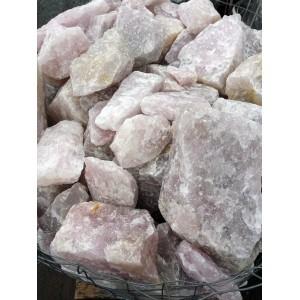 Rožinis kvarcas skaldytas 10-20cm, kg