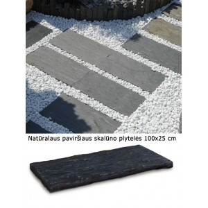 Plytelės skalūno grublėtos 100x25 cm, vnt