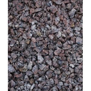 Raudona taškuota granito skalda 5/8; 8/12 mm, 20 kg