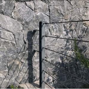 Skaldyto akmens apdaila, plokštės