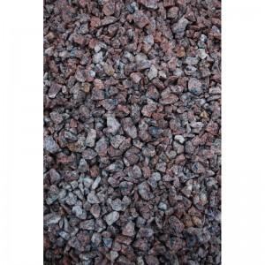 Raudona taškuota granito skalda 11/16 mm, 20 kg