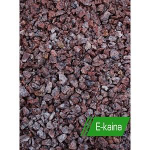 Raudona taškuota granito skalda 2/8 ; 8/12; 11/16 mm, 20 kg