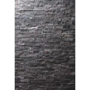 "Akmens panelė ""Shadow Black"" 15x60 cm, m2 (S-forma)"