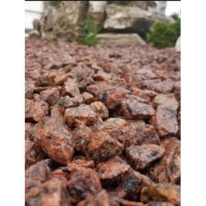 Raudona taškuota granito skalda 5/8 mm, 20 kg