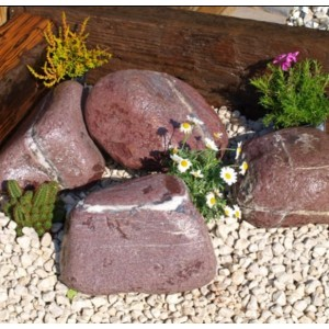Akmenys alpinariumams (skaldyti, gludinti)